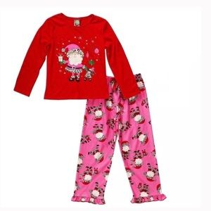 Women's pajama set dollie and me small NWT